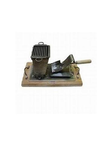 Pour une raclette traditionnelle au charbon de bois!